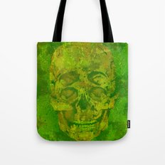 4 eyes skull camouflage woodland green Tote Bag