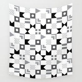 Pattern Pandemonium-Black Wall Tapestry