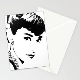 Audrey Simply Beautiful in Black and white Stationery Cards
