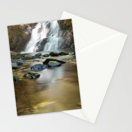 Amazing waterfall with rocks on the mountain Stationery Cards