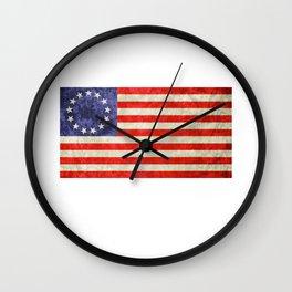 Betsy Ross Flag design Wall Clock