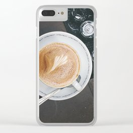Wake Me Up at Sightglass Clear iPhone Case