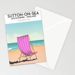 Sutton on Sea,Lincolnshire, travel poster Stationery Cards
