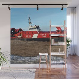 Hovercraft on the Beach Wall Mural