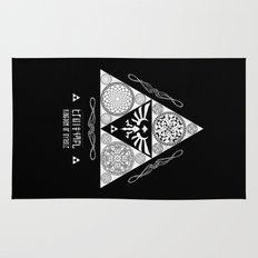 Legend of Zelda Kingdom of Hyrule Crest Letterpress Vector Art Rug