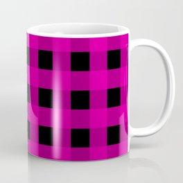 Magenta and Black Check Coffee Mug