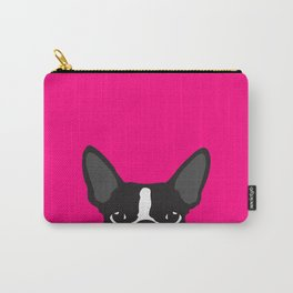 Boston Terrier Hot Pink Carry-All Pouch