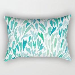Mermaid Tails Watercolour   Original Palette Rectangular Pillow