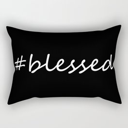 #blessed black and white Rectangular Pillow