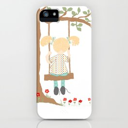 On the Swing, In the Tree iPhone Case