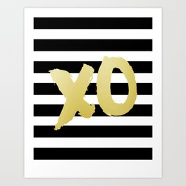 Modern Wall Art,XoXo, Gossip Girl, Girls Room Decor,Gold Print,Gold Foil,Kisses And Hugs Art Print