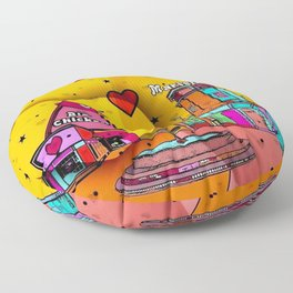 Marietta Popart 2018 by Nico Bielow Floor Pillow