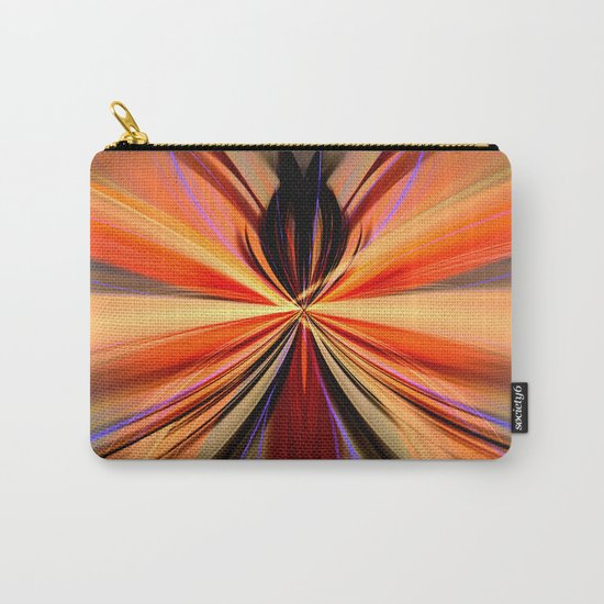 Artistic colourful abstract butterfly Carry-All Pouch