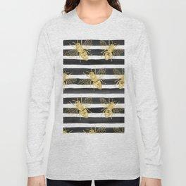 Golden bee noir Long Sleeve T-shirt