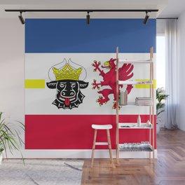 Flag of Mecklenburg-Vorpommern (Mecklenburg-West Pomerania) Wall Mural