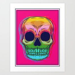 skull colors  Art Print