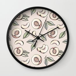 Peach Please Wall Clock