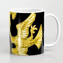 Gold Antique Bird Illustration Coffee Mug