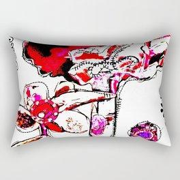 'flower ornaments brittmarks' Rectangular Pillow