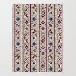 Caucasian Rugs(Stripe) - White Poster