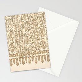 Sepia Macramé Arrowhead Chenille Lace Pattern Stationery Cards