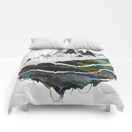 snow globe Comforters