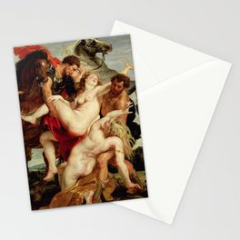 Peter Paul Rubens- The Rape of the Daughters of Leucippus Stationery Cards