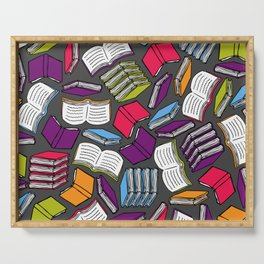 So Many Colorful Books... Serving Tray