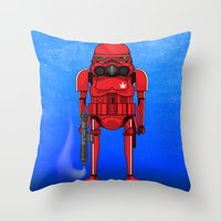 marijuana Throw Pillows featuring Marijuana trooper by kakin
