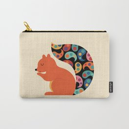 Paisley Squirrel Carry-All Pouch