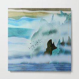 Steep hills by the sea Metal Print