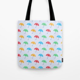 Rainy Day Kawaii Umbrellas Tote Bag