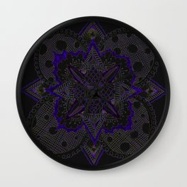 Divine Intention 5: Solar Purp Wall Clock