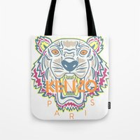 kenzo Tote Bags featuring KENZO Tiger by cvrcak