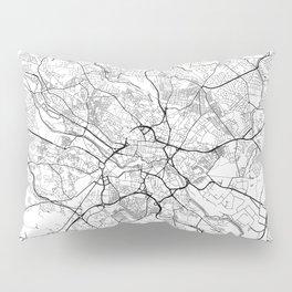 Leeds Map White Pillow Sham