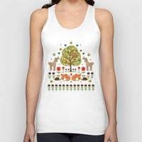 wild things Tank Tops featuring Woodland Wild Things by Angie Spurgeon
