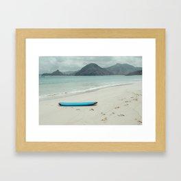 Lombok beach Framed Art Print