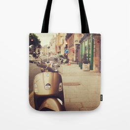 Vespa in Paris Tote Bag
