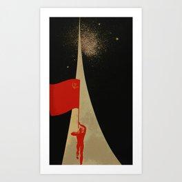 all the way up to the stars - soviet union propaganda Art Print