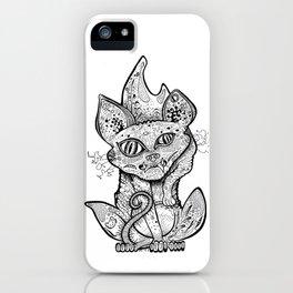 MAD BALD CAT iPhone Case