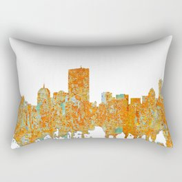 Boston, Massachusetts Skyline - Rust Rectangular Pillow