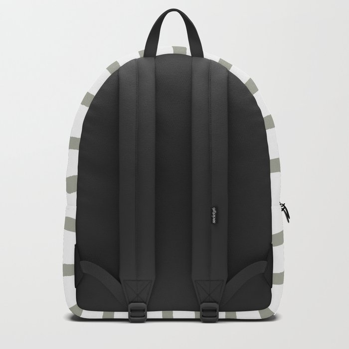 Simply Drawn Stripes Retro Gray on White Backpack