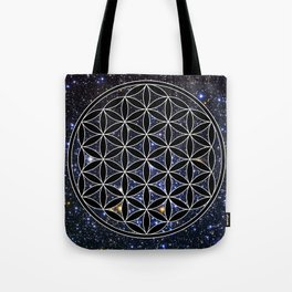 Flower of life in the space Tote Bag