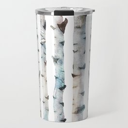 Birch tree Pattern Travel Mug