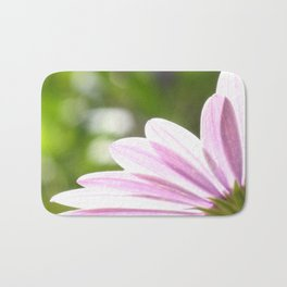 Pink African Daisy in the Light Bath Mat