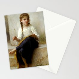"""William-Adolphe Bouguereau """"Sewing"""" Stationery Cards"""