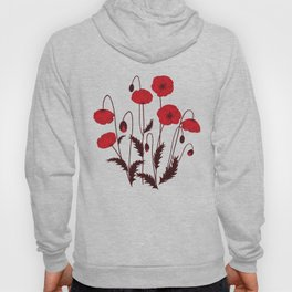Bright floral pattern on a white background with decorative elements. Hoody