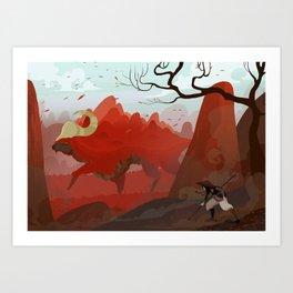 Earth Bull Art Print
