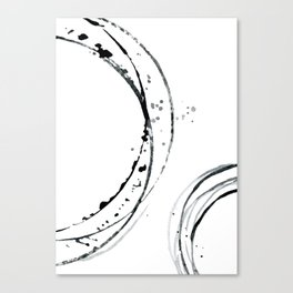 Black Abstract Lines. Canvas Print