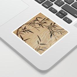Japanese bamboo buddha wood art Sticker